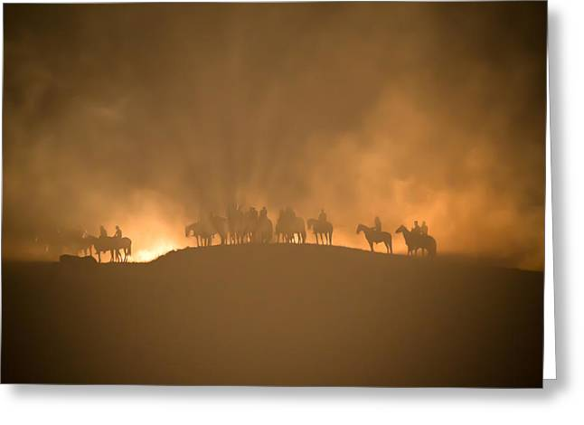 Outdoor Theater Greeting Cards - Legend of Rawhide - Lusk Wyoming Greeting Card by Diane Mintle