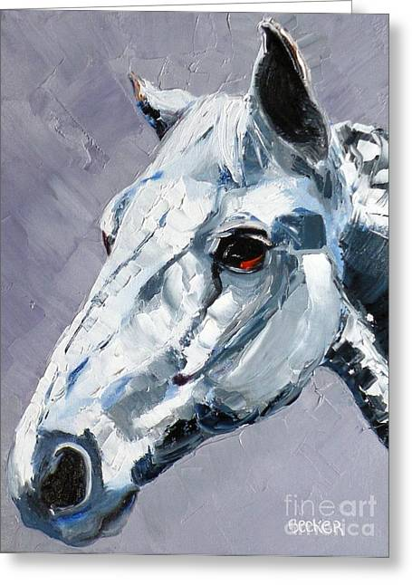 Quarter Horse Greeting Cards - Legend Greeting Card by Susan A Becker