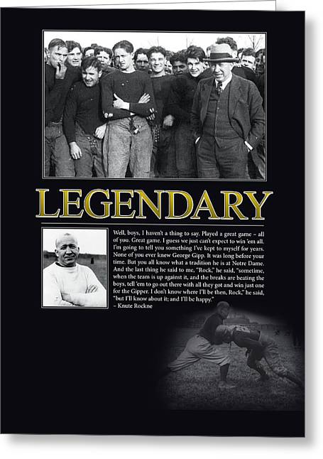Legendary Greeting Cards - Legendary Knute Rockne Greeting Card by Retro Images Archive
