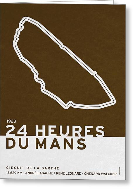 Grande Greeting Cards - Legendary Races - 1923 24 Heures du Mans Greeting Card by Chungkong Art