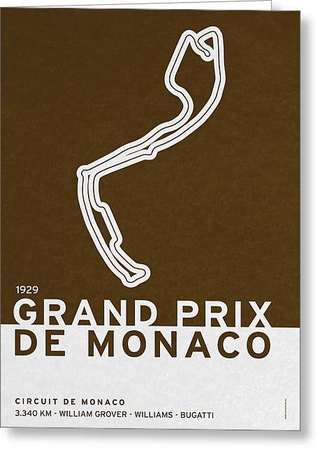 Brasil Greeting Cards - Legendary Races - 1929 Grand Prix de Monaco Greeting Card by Chungkong Art