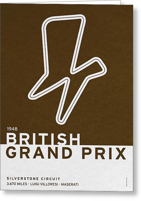 Grande Greeting Cards - Legendary Races - 1948 British Grand Prix Greeting Card by Chungkong Art