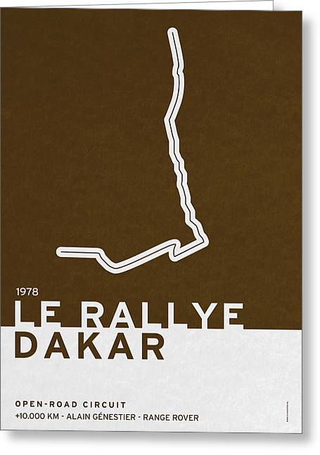 Grande Greeting Cards - Legendary Races - 1978 Le rallye Dakar Greeting Card by Chungkong Art