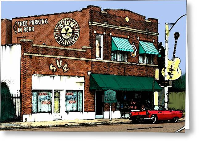 Legendary Sun Studio Records Greeting Card by Iconic Images Art Gallery David Pucciarelli