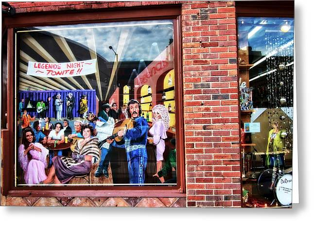 Nashville Downtown Greeting Cards - Legends Bar In Downtown Nashville Greeting Card by Dan Sproul