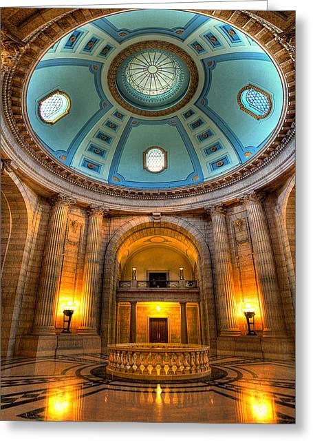 Manitoba Greeting Cards - Legislative Building Greeting Card by Bryan Scott