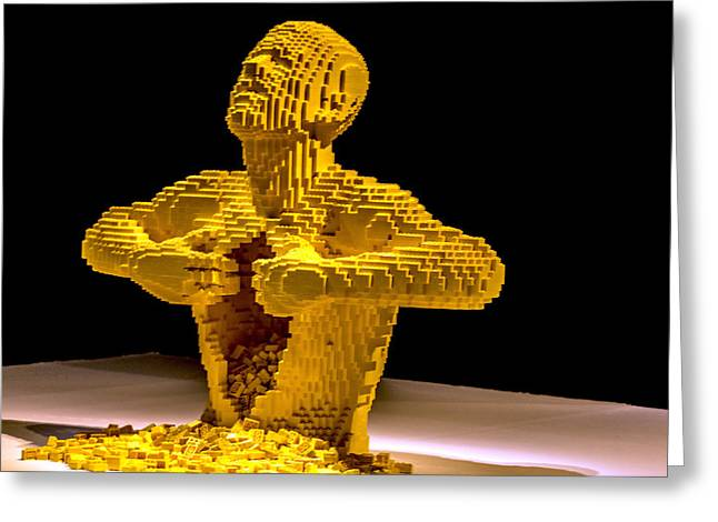 Making Toys Greeting Cards - Lego Art Greeting Card by Jijo George