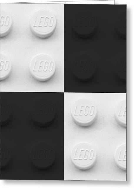 Lego Greeting Cards - Lego Boxes White And Black Greeting Card by Rob Hans