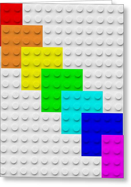Lego Greeting Cards - Lego Boxes White Greeting Card by Rob Hans