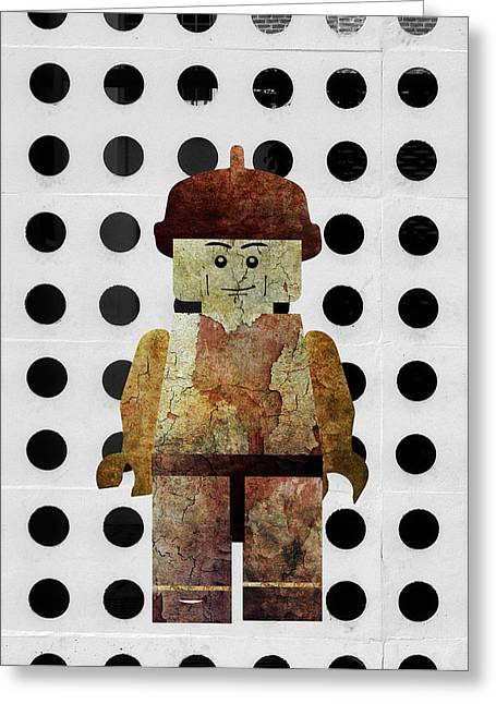 Lego Mixed Media Greeting Cards - Lego in dots Greeting Card by Jonas Leonas