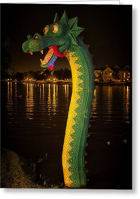 Lego Greeting Cards - Lego Loch Ness Greeting Card by Linda Tiepelman