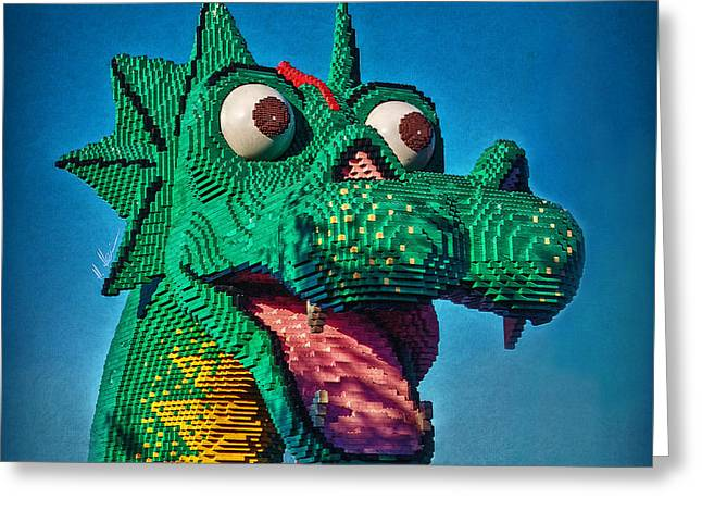 Ungeheuer Greeting Cards - Lego Nessie Greeting Card by Hanny Heim