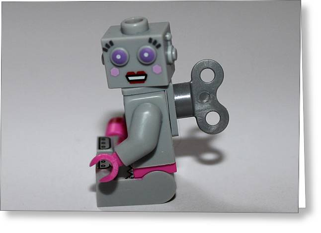 Lego Greeting Cards - Lego Robot Greeting Card by Martin Newman