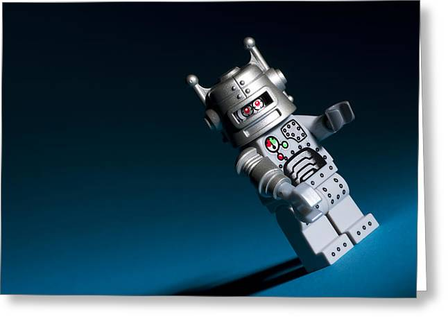 Cyborg Greeting Cards - Lego Robot Greeting Card by Samuel Whitton