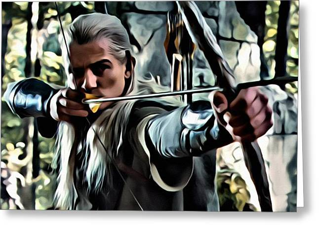 Lord Of The Rings Greeting Cards - Legolas Greeting Card by Florian Rodarte