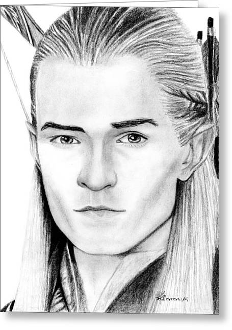 Lord Of The Rings Greeting Cards - Legolas Greenleaf Greeting Card by Kayleigh Semeniuk