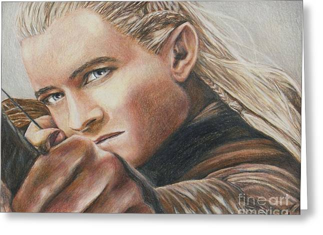 Legolas / Orlando Bloom Greeting Card by Christine Jepsen