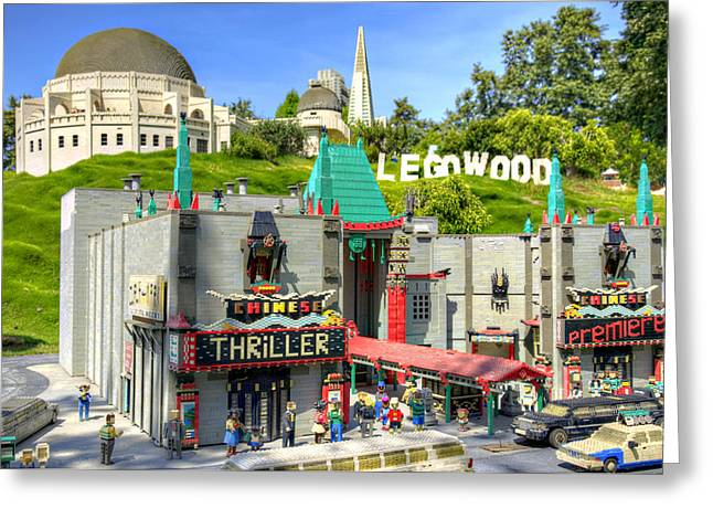 Lego Greeting Cards - LegoWood Greeting Card by Ricky Barnard