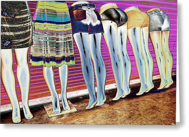 Display Dummy Greeting Cards - Legs 847a Greeting Card by Rudy Umans