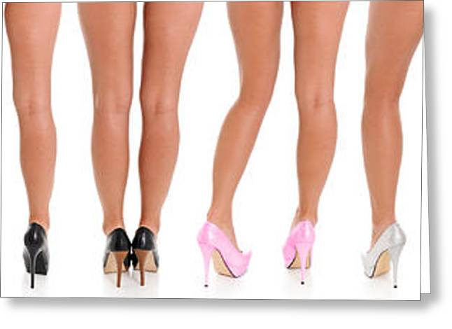 Female Body Greeting Cards - Legs and Heels Greeting Card by Jt PhotoDesign