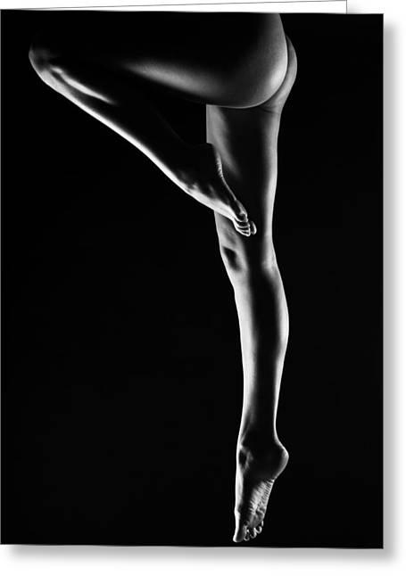 Legs Greeting Card by Eivydas Timinskas