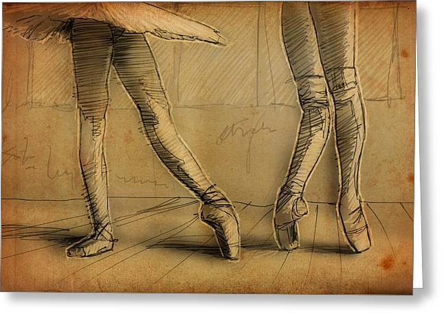 Barre Greeting Cards - Legs Greeting Card by H James Hoff