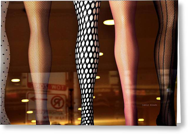 Panty Hose Greeting Cards - Legs Greeting Card by Jamie Klock
