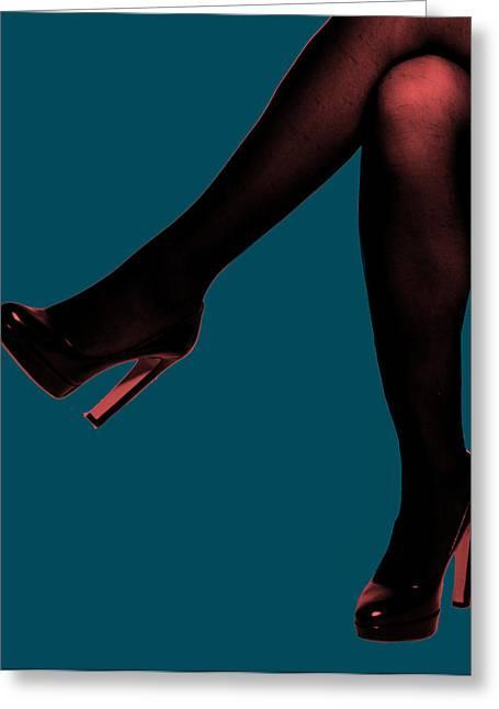 Digita Art Greeting Cards - Legs Greeting Card by Mauricio Vegas