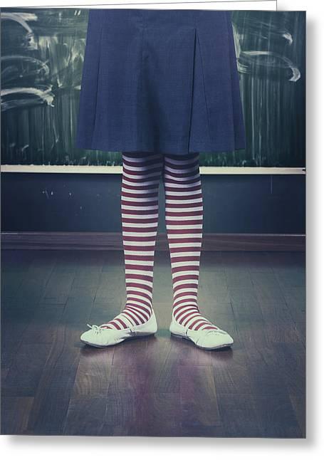 Legs Of A Schoolgirl Greeting Card by Joana Kruse