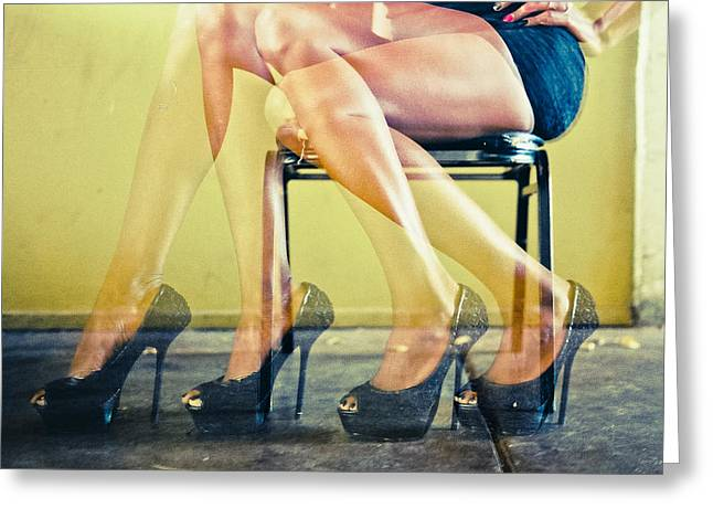 Awsome Greeting Cards - Legs Greeting Card by Scott Meyer