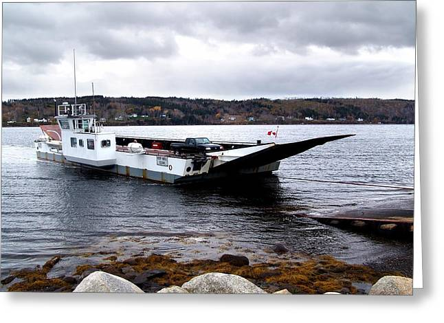 Lehave Cable Ferry Greeting Card by Janet Ashworth
