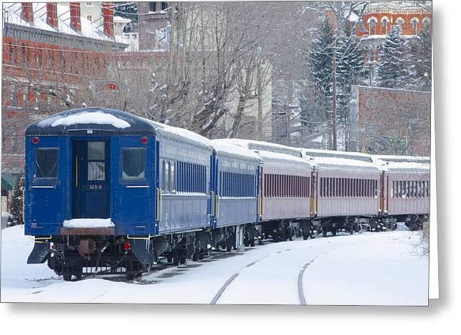 Snowy Roads Digital Art Greeting Cards - Lehigh Gorge Scenic Railway Greeting Card by Bill Cannon