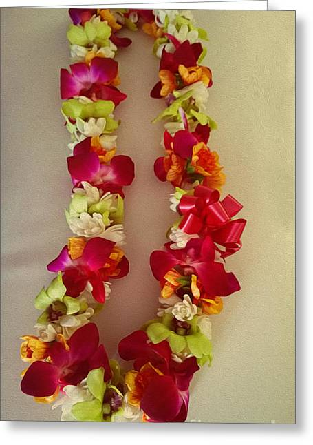 Lei Greeting Cards - Lei Greeting Card by Cheryl Young