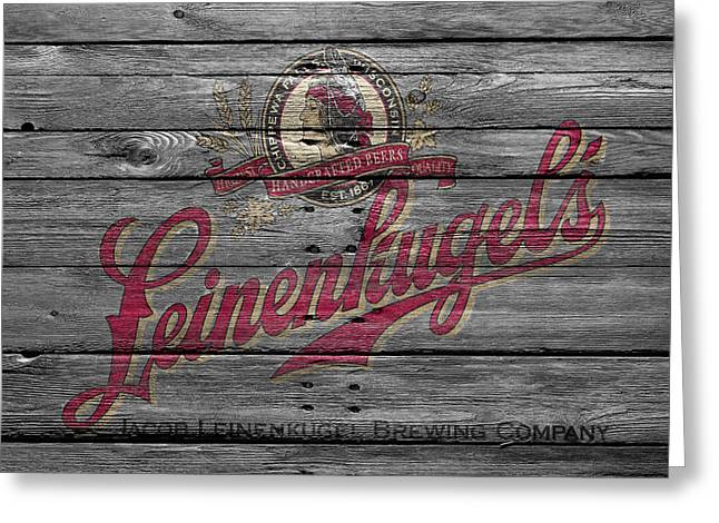Saloons Greeting Cards - Leinenkugels Greeting Card by Joe Hamilton
