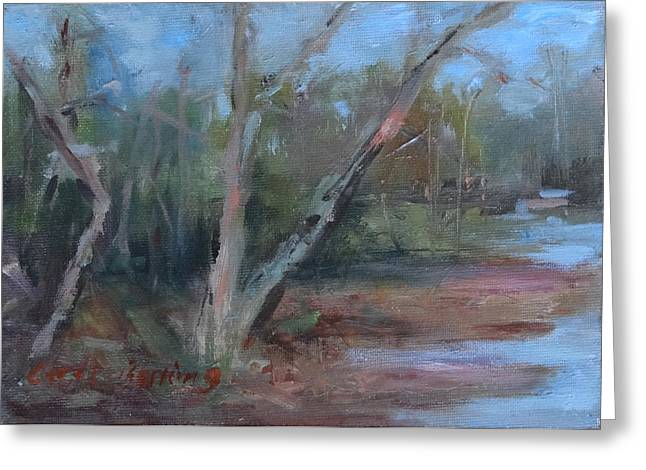 Leipers Fork Paintings Greeting Cards - Leipers Creek Study Greeting Card by Carol Berning