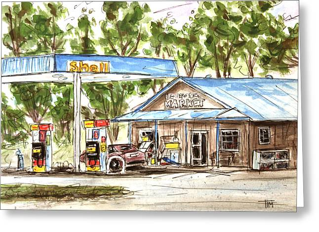 Leipers Fork Paintings Greeting Cards - Leipers Fork Market Greeting Card by Tim Ross