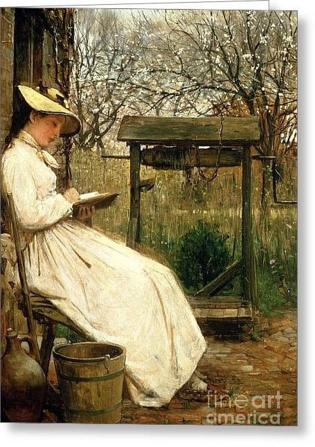Youthful Paintings Greeting Cards - Leisure Hours Greeting Card by John Robertson Reid