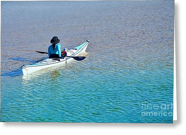 Ripples In The Water Greeting Cards - Leisure on the Lake Greeting Card by Kaye Menner