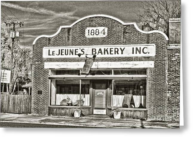Main Street Greeting Cards - LeJeunes Bakery Greeting Card by Scott Pellegrin