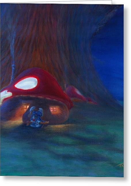 Smurfette Greeting Cards - Lembrasse Greeting Card by Jim Ditto