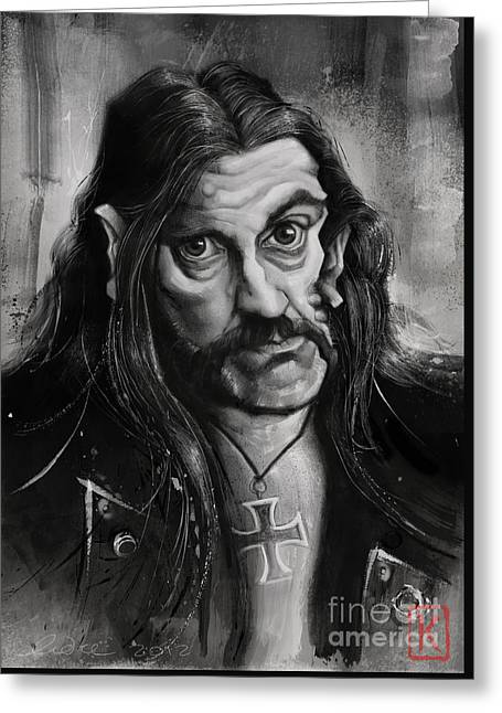 Caricature Digital Art Greeting Cards - Lemmy Greeting Card by Andre Koekemoer