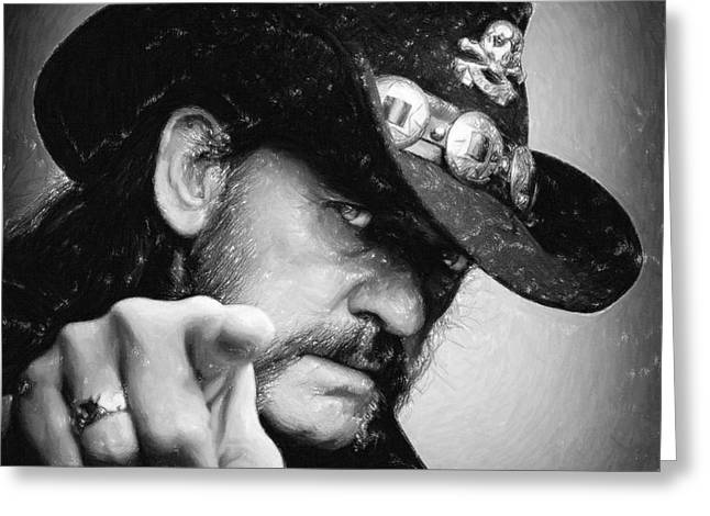Celebrity Pastels Greeting Cards - Lemmy Kilmister Greeting Card by Antony McAulay