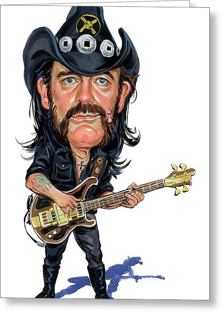 Art Glass Greeting Cards - Lemmy Kilmister Greeting Card by Art