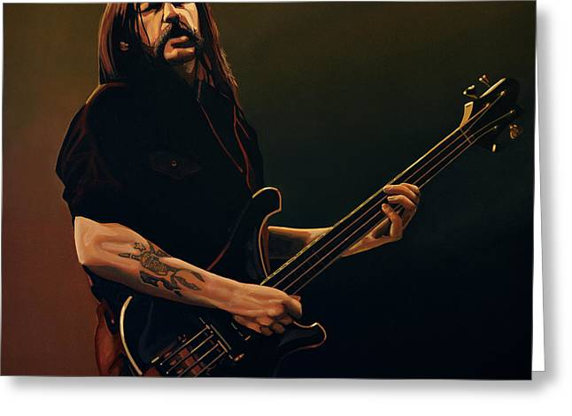Entertainer Greeting Cards - Lemmy Kilmister Greeting Card by Paul  Meijering
