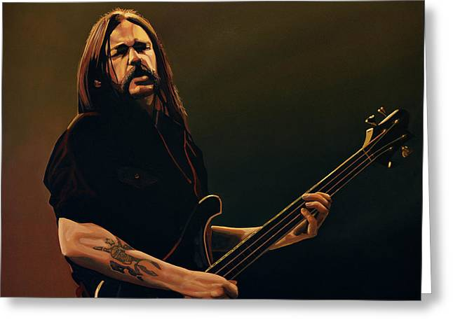 Rock And Roll Paintings Greeting Cards - Lemmy Kilmister Greeting Card by Paul Meijering