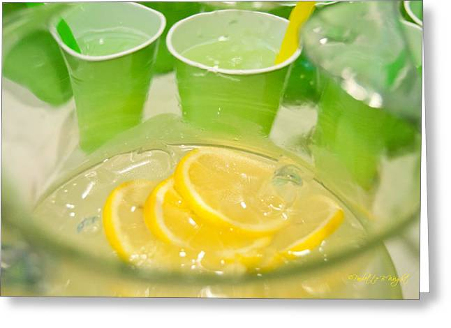 Lemon Art Greeting Cards - Lemon and Lime Celebration Greeting Card by Paulette B Wright
