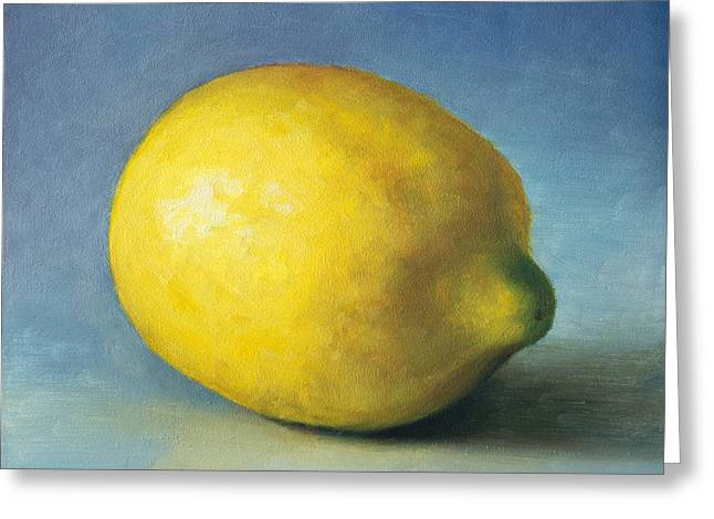 Lemon Greeting Card by Anna Abramska