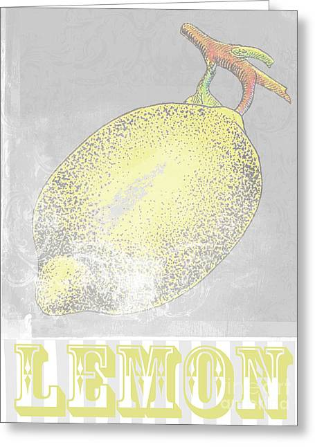 French Pears Greeting Cards - Lemon Art Print Greeting Card by AdSpice Studios