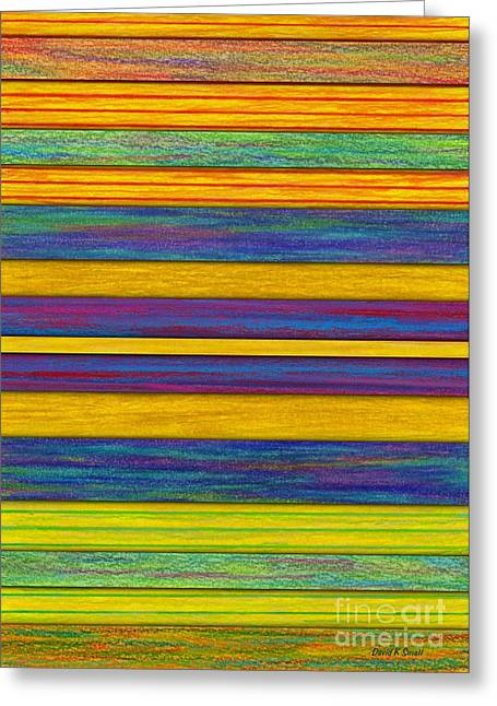 Colored Pencil Abstract Greeting Cards - Lemon Berry Bars Greeting Card by David K Small