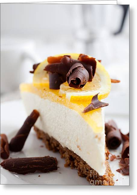 Cheese Cake Greeting Cards - Lemon cheesecake Greeting Card by Kati Molin